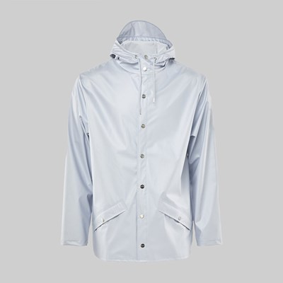 RAINS JACKET METALLIC ICE GREY